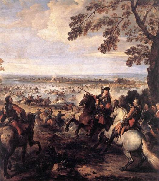 The Crossing Of The Rhine By The Army Of Louis XIV 1672